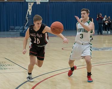 2019 Boys Varsity Basketball:  Hall-Dale vs Winthrop