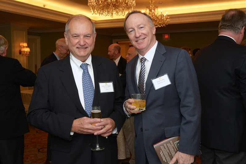 NEHGS Trustee Andy Langlois with a guest