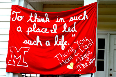 Miami Graduation Bedsheet Banners 2014