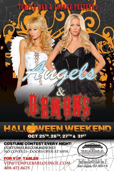 Angels & Demons @ Temple Bar & Lounge 10.27.12