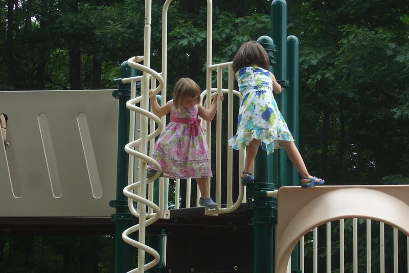 Our girls climb off the beaten path.