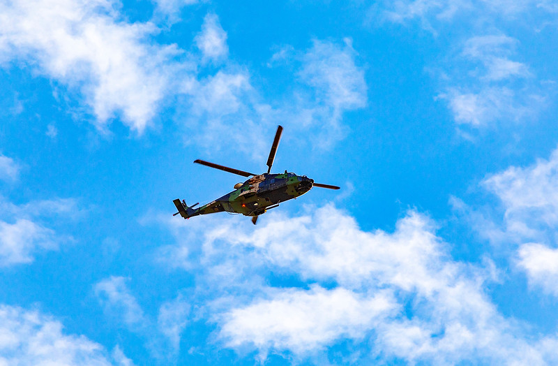 Royal Australian Navy MRH-90 Taipan A40-016 landing at Rockhampton Airport 28-02-2019.