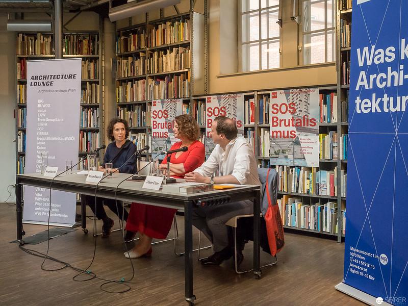 "Pressekonferenz ""SOS Brutalismus"" im Az W."