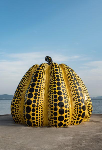 Yellow Pumpkin of Yayoi Kusama, Naoshima, Japan