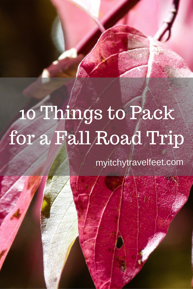 0 things to pack for a fall road trip.