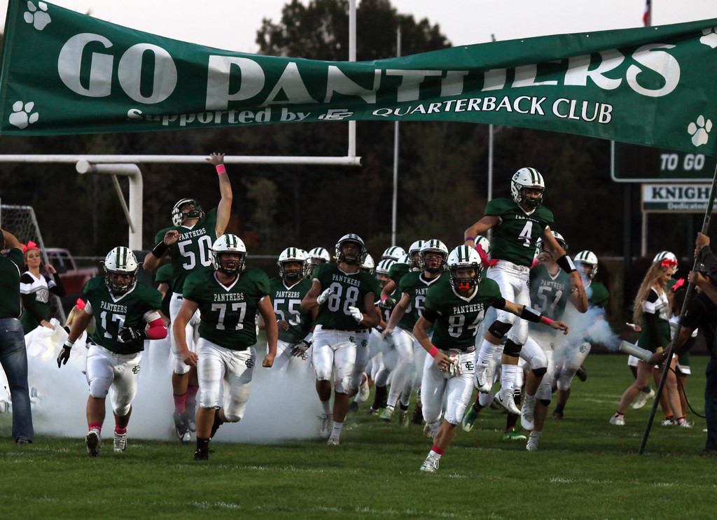 . The Elyria Catholic Panthers take the field against Bay on Oct. 13. The Panthers play on grass. (Randy Meyers - The Morning Journal)