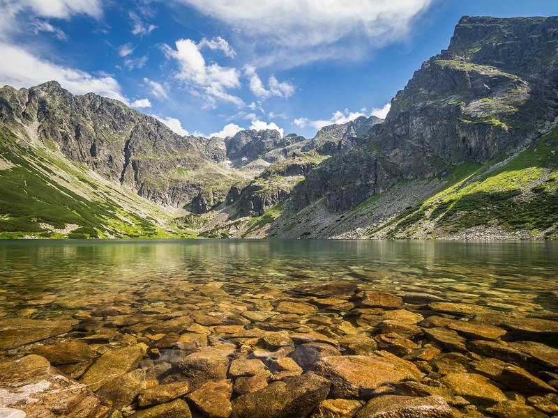 Peaceful and Perfect Gąsienicowe Lake, Tatra Mountains, Poland