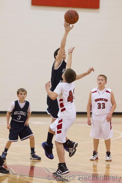 2012-11-14 Hillsdale Academy Boy's Junior High Basketball vs. Bellevue