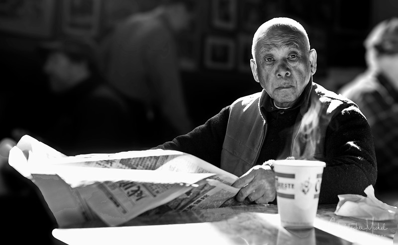 In the old days, you'd see Thomas every day at Caffe Trieste in North Beach.  Sadly, he passed away last year.