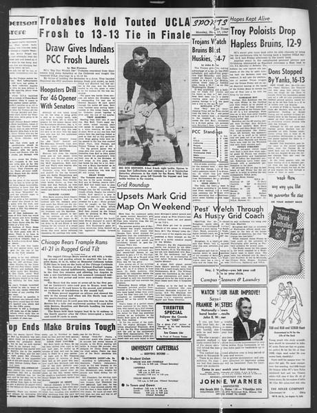 Daily Trojan, Vol. 39, No. 45, November 17, 1947