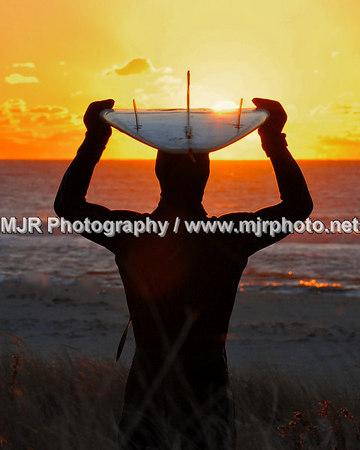 Surfing, Gilgo Beach, NY,  (1-9-07)