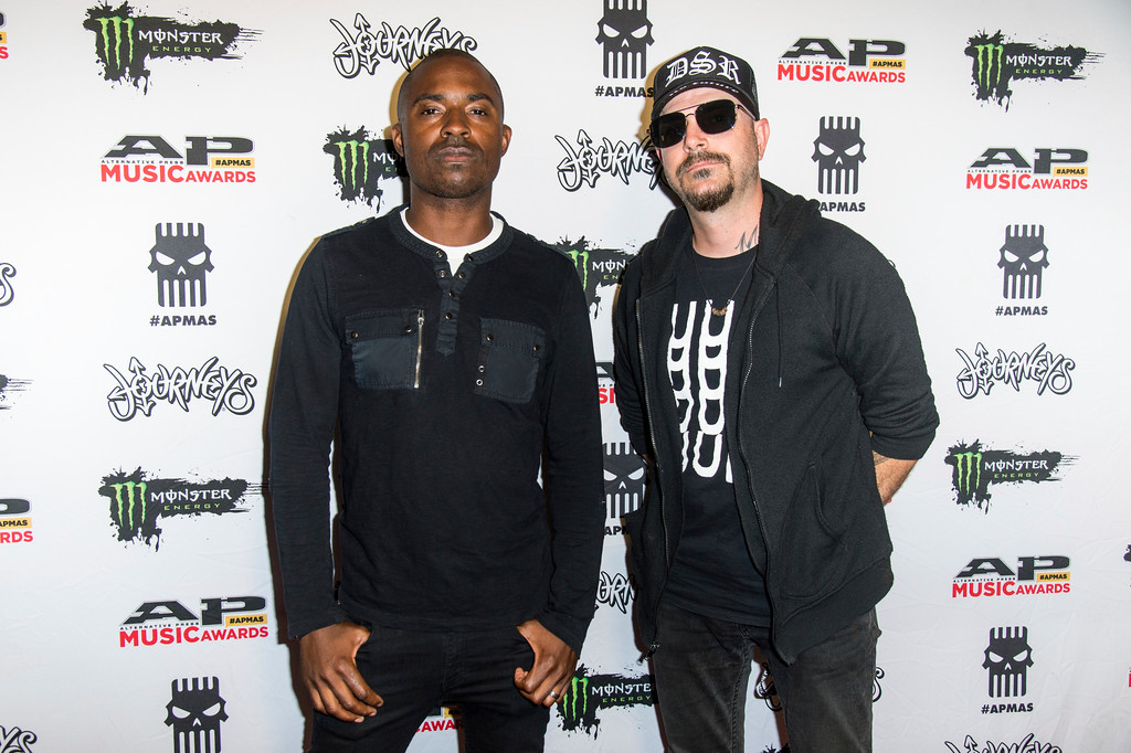 . Carley Coma, left, and John Lamacchia of Candiria seen at 2017 Alternative Press Music Awards at the KeyBank State Theatre on Monday, July 17, 2017, in Cleveland. (Photo by Amy Harris/Invision/AP)