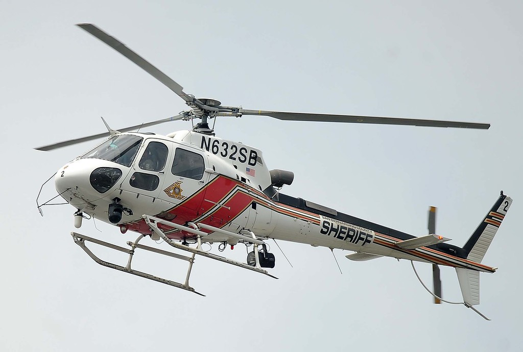 . The sheriff\'s helicopter, known as 40-King, aided deputies as they searched the area.LaFonzo Carter/ Staff Photographer