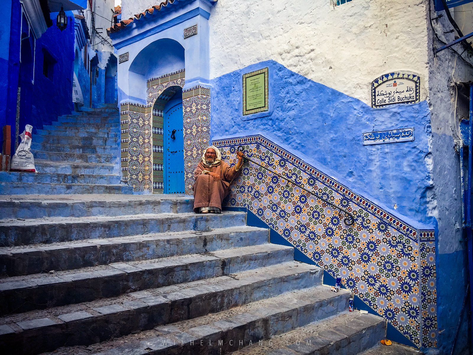 北非調色盤 摩洛哥 Instagram聖地 藍城舍夫沙萬 Chefchaouen by Wilhelm Chang 張威廉