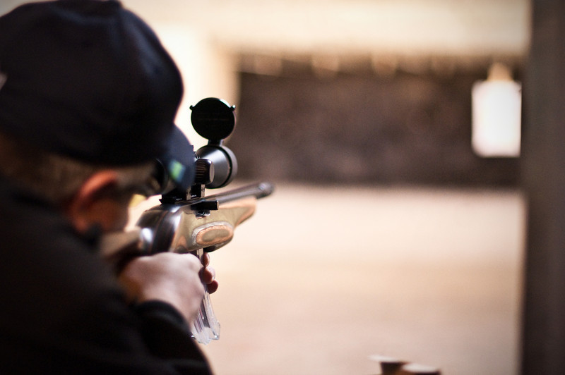2013.01.03 - Shooting range with Mike Anderson. .22 rifle