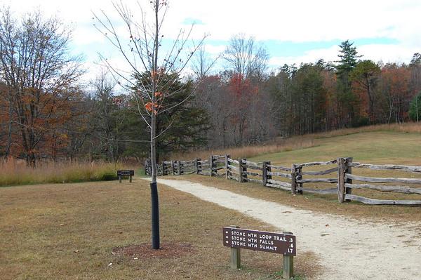 Journal Site 165: Stone Mountain Loop Trail, Stone Mountain State Park, Roaring Gap, NC - Nov. 5, 2010