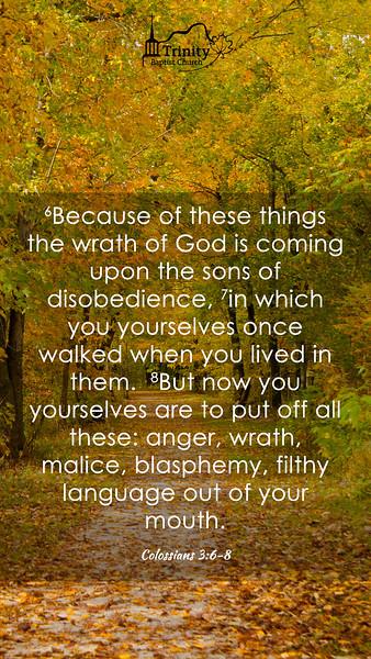 October 2019 Scripture Memory