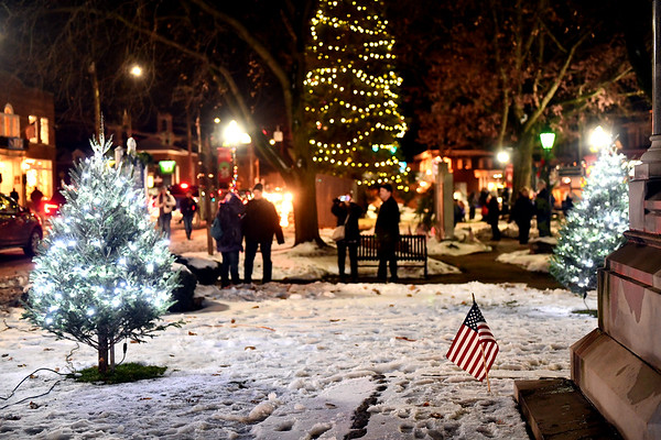 12/6/2019 Mike Orazzi | StaffrThe tree lighting during Southington's White Christmas in the Community on the town green on Friday evening.