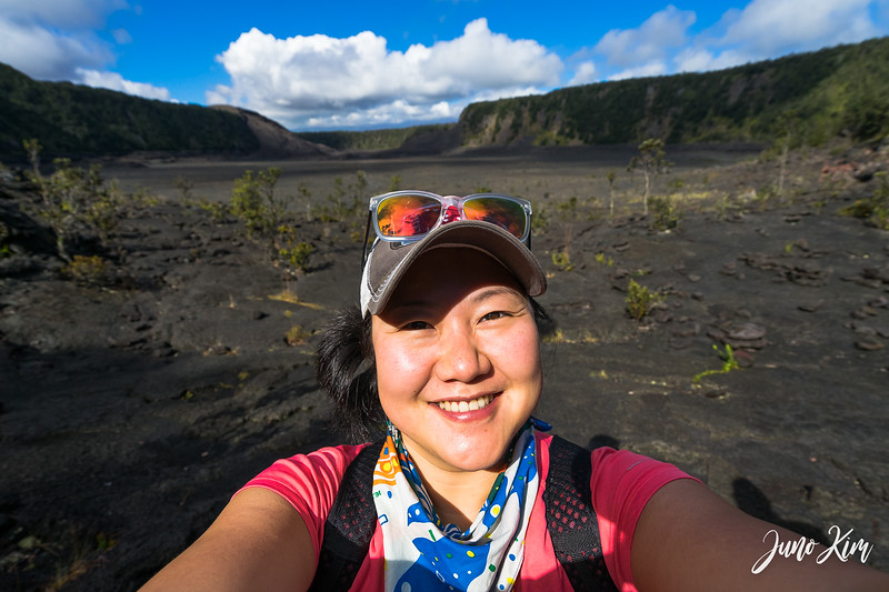 Walking on Kilauea Iki Trail (on a crater!)