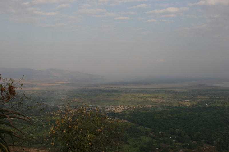 view over manyara national park