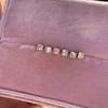 .78-.82ctw Asscher Stud Earrings, in Yellow Gold 18