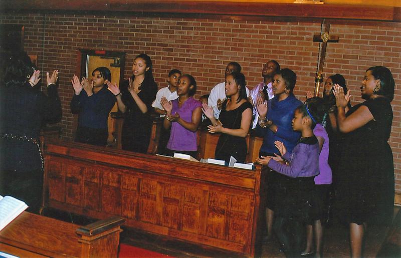 Penn Avenue Youth Choir. Director, Mrs. Valerie Wardrett.