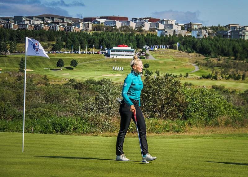 Íris Lorange Káradóttir.  Íslandsmót golf 2019 Grafarholt - 1. keppnisdagur. Mynd: seth@golf.is