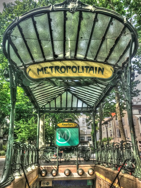Abbesses Metro Station in the Montmartre district (18th arrondissement)