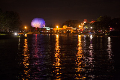 The Epcot ball across the water.