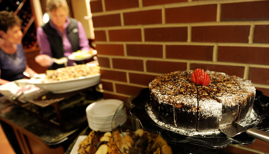 . The chocolate toffee cake in the buffet line of the Coors Clubhouse Restaurant underneath the stands behind home plate at the Denver  baseball park on May 3, 2013 before the Rockies game. (Photo By Cyrus McCrimmon/The Denver Post)