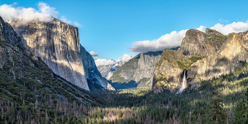 Afternoon Panorama in Yosemite