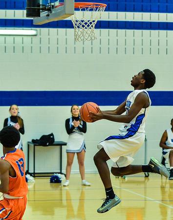 Basketball Varsity Boys vs  Bowie 01-28-14-11
