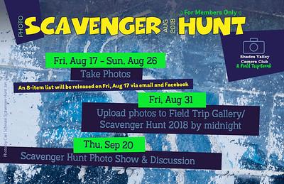 Scavenger Hunt 8-2018