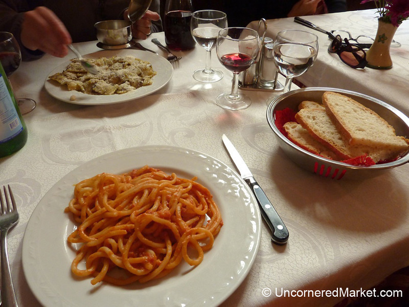 Simple Lunch in Cortona, Italy