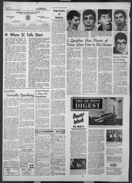 Daily Trojan, Vol. 44, No. 18, October 08, 1952
