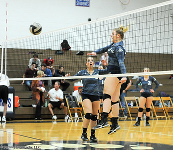 Varsity Volleyball Action