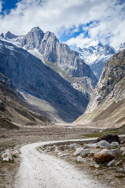 Road in Spiti Valley. Himachal Pradesh, India India