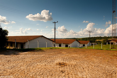 Pig farm, not very modern, not impresive, but remember the mutiplier of the large area.