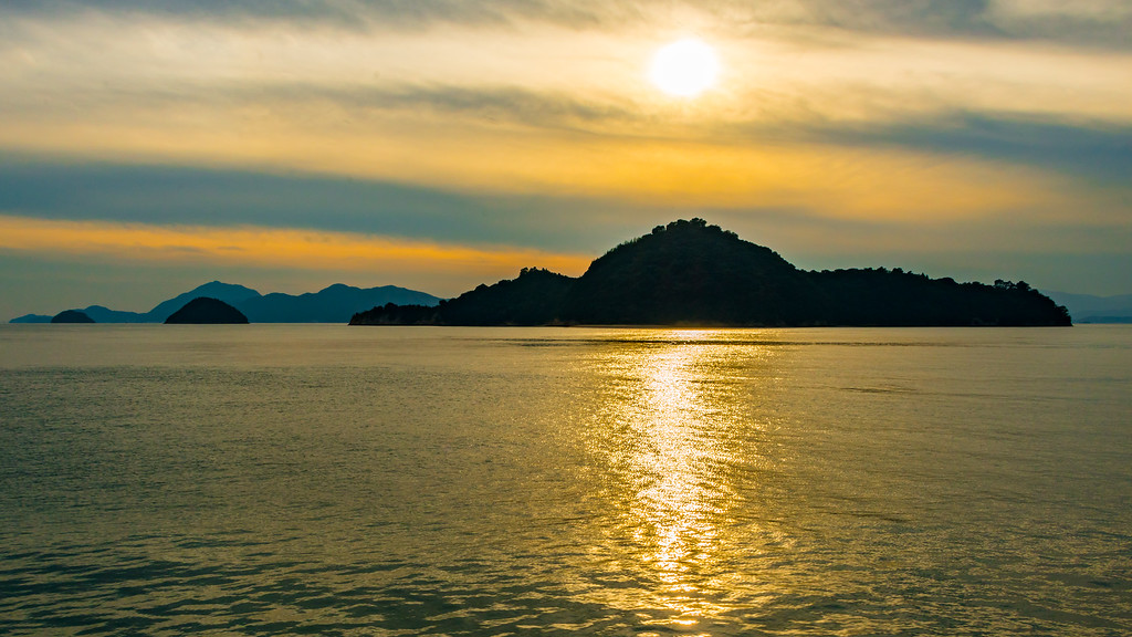 Sunset on the Inland Sea, Japan - 2014