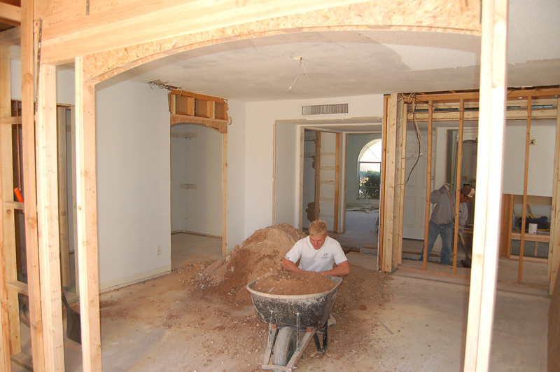 Master bedroom view from the master bath, looking toward the guest bedroom.