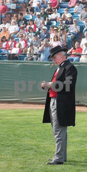 The game can't start until the umpire lights his cigar.