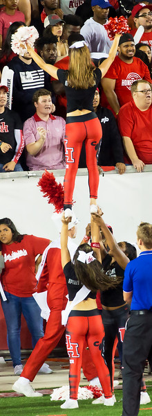 Cheerleading over by the student section