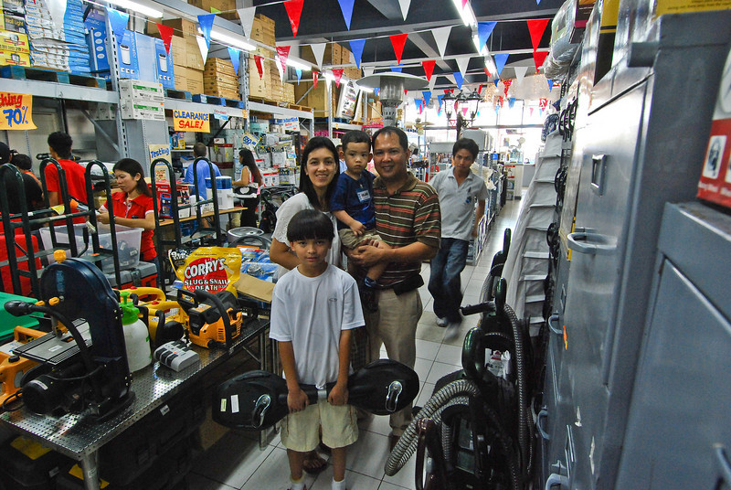 Inside HMR store managed by Orland