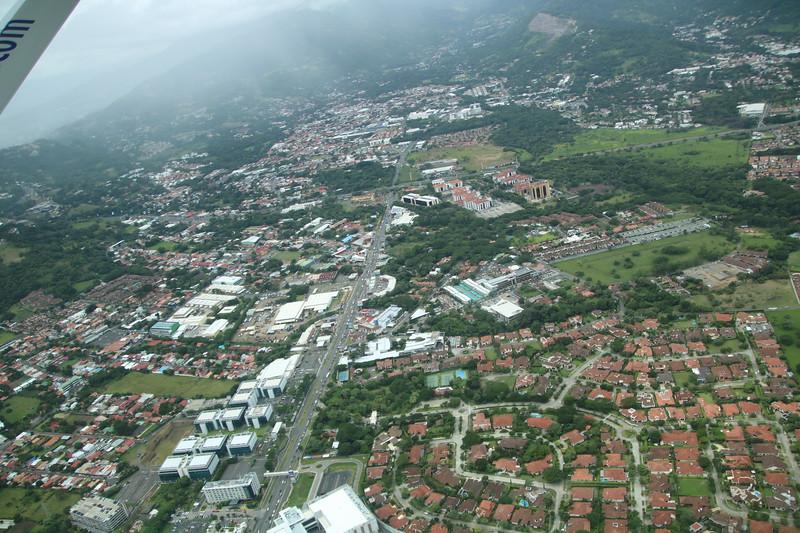 Aerial view of Santa Ana, Costa Rica including Forum, Terrazas de Lindora, and Bosques de Lindora