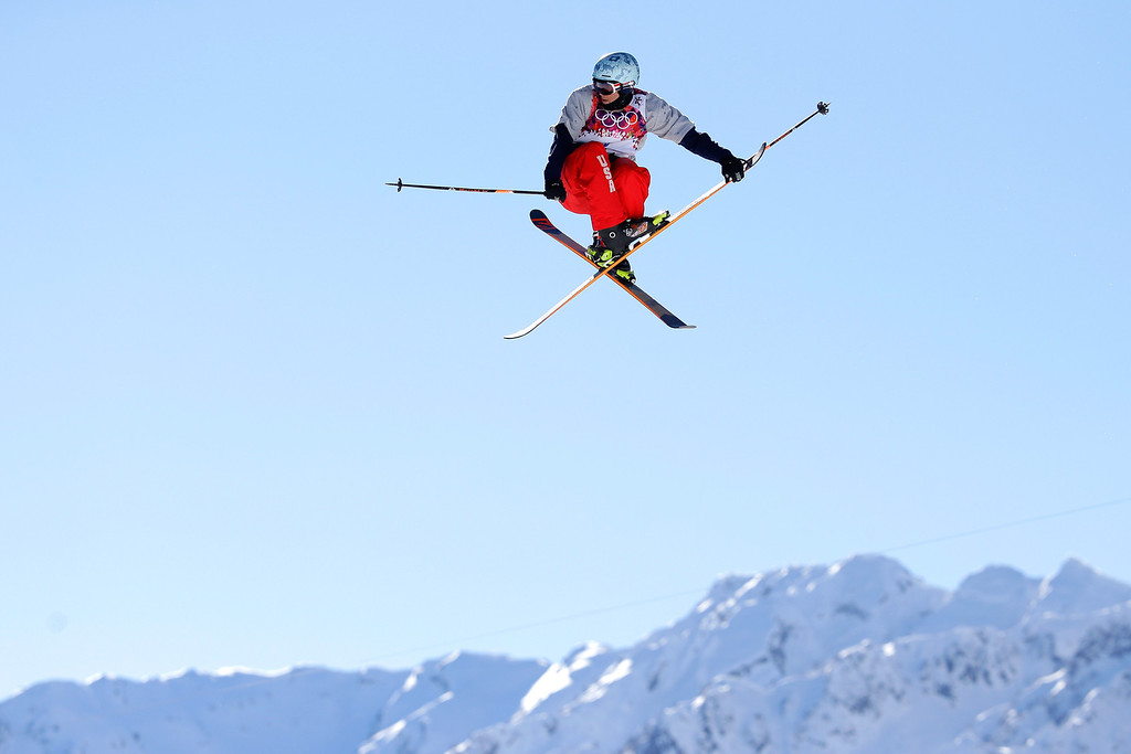 . Bobby Brown of the United States competes in the Freestyle Skiing Men\'s Ski Slopestyle Qualification during day six of the Sochi 2014 Winter Olympics at Rosa Khutor Extreme Park on February 13, 2014 in Sochi, Russia.  (Photo by Ezra Shaw/Getty Images)