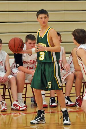 Boys JV Basketball at DCG 2010