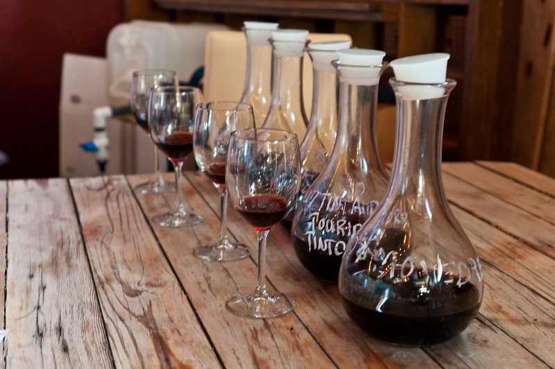 The 5 vintages of port with only 4 glasses (one of us must have one!)