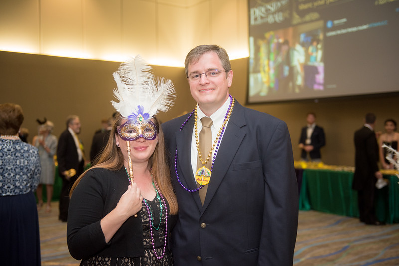 Seneca Holland and Rick Smith. Saturday February 25, 2017 at TAMU-CC during the annual President's Mardi Gras Ball.