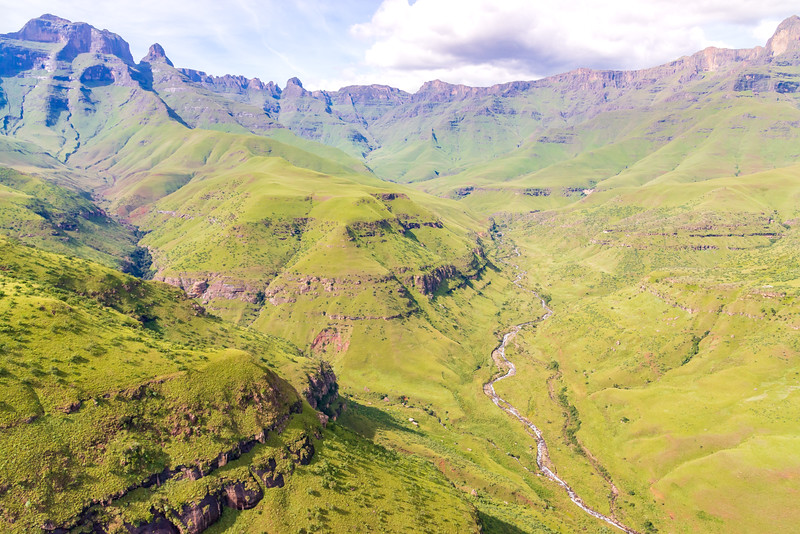 Drakensberg Mountain Aerial Images