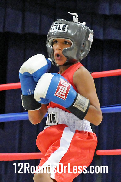 Bout 1 Anthony Wimbley, Untouchable BC, Cleveland -vs- Travell Fain, Good Shephard BC, Akron, 60 lbs
